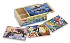 SEA LIFE ~4-12pc Wooden Jigsaws/Box # 3795  ~ Melissa and Doug