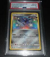 PSA 10 GEM MINT Kartana SV33/SV94 SM Hidden Fates SHINY HOLO RARE Pokemon Card