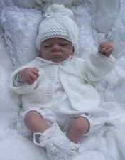 baby / reborn knitting pattern   birth /6m reborn jacket  hat booties easy knit