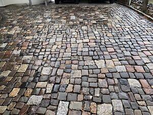 Granit Basalt Sandstein  14 x 17 cm  25t Kopfstein Natursteinpflaster Antik
