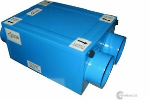 HRW150H Wall Mounted 84/% Heat Recovery Unit Supply Extract Fan Humidity Bathroom