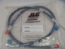 JLG Hose Set of 2 1001102378 Lull Forklift Side Tilt Carriage .38 x 39 STR x 90