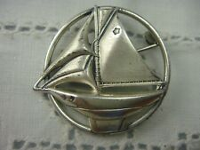 VINTAGE MINIATURE STERLING SILVER SAIL BOAT SHIP PIN BROOCH BY B WEIGHS 3.3 GRAM