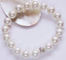 Perlen Muschelkernperlen Armband 10 mm. weiß Silber 925 Brautschmuck Hochzeit