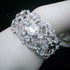Crystal Beauty Silver Plated Costume Bracelets