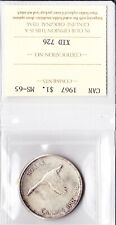 Canadian Canada silver dollar $ 1 Coin 1967 MS-65  ICCS Certified