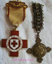 DEC4031 - 2 MEDAILLES BRITISH RED-CROSS & AMBULANCE OF ST JOHN  - WWII