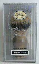 The Art of Shaving Handcrafted 100% Fine Badger Shaving Brush - Brown