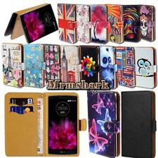 Flip Leather Wallet Card Stand Cover Case For Various LG SmartPhones