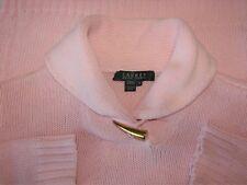 """Lauren Ralph Lauren Size M Long Sleeve Pink Cotton Sweater Bust 36-38"""""""
