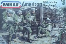 "Emhar ® 3509 wwi American Infantry ""Doughboys"" personajes en 1:35"