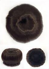 Hair Bun, Perfect Braided, Hair Piece, Medium Brown 4A.