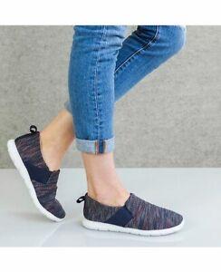 ZENZ Isotoner women's comfort shoes slippers - Navy - Size 6