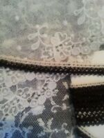 "Vintage Tiny Lace Black & white 60"" Sewing Clothes Dainty Trim Crafts"