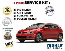 FOR VW GOLF 1.4 TSi GT CAV CAX 2009-> SERVICE KIT OIL AIR FUEL POLLEN FILTER SET