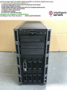 Dell PowerEdge T430 2x E5-2699v3 48GB PercH730P 1x 1TB SAS 2x 1100W Tower Server