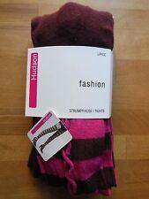 Hudson Fashion KNITTED TIGHTS 85 % Cotton curled mit Braid pattern merlot