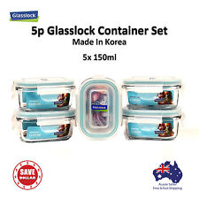 GLASSLOCK 5x150ml Glass Food Container Storage Microwave Safe Baby Meal Set