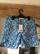 "New listing Orlebar Brown Men's Swim Shorts ""Bulldog""Ninfea Bahama Blue/White size 30"" BNWT"