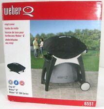 WEBER Q 6551 Vinyl BBQ Barbeque Grill Cover Char Q, Weber Q 200 Series Black
