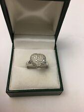 Vintage 14k White Gold Diamond Heart Ring