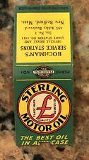 Vintage Sterling Motor Oil Matchcover Bedford, Mass