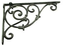 CAST IRON- Large Ornate  Corner Brace Bracket Shelf  Wall Mount