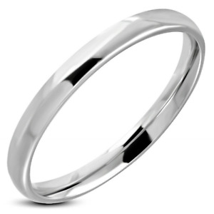 Glossy Mirror Polished 3mm ENGRAVABLE WEDDING Band Stainless Steel Ring