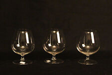 3 verres à Cognac en cristal / 3 Cognac crystal glass