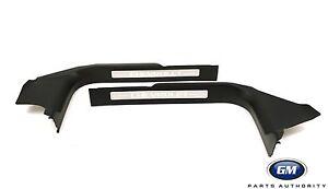 2014-2018 Chevrolet Silverado Interior Door Sill Plates 23114164 Black OEM GM