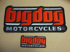 BIG DOG MOTORCYCLES SIGNATURE JACKET PATCH SET EMBROIDERED CHOPPER MASTIFF K-9