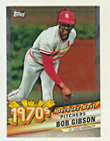 2020 Topps DECADE'S BEST 1970'S CHROME #DBC=31 BOB GIBSON St Louis Cardinals HOF