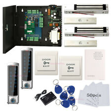 2 Doors Access Control Systems Kit & Metal Waterproof Access Controller Mag Lock
