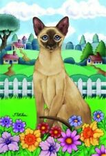 Spring House Flag - Siamese Cat 76007