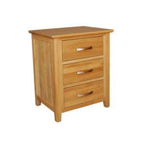 NEW Avalon Solid Oak Bedside Table