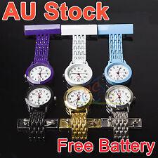 Metal Nurse Chain Brooch Fob Watch Nursing Nurses Pendant Clip-on Pocket Quartz