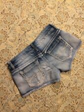 Mudd Womens Designer Blue Denim Shorts Size 7 Mini Shorts Distressed Cute Summer