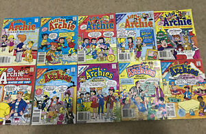 Bulk Lot Of 10 Archie Digest Comics 1987-1994