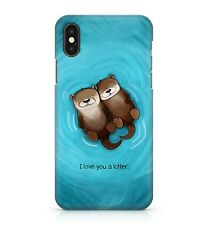 I Love You A Lotter Cuddly Funny Cute Otter Pups Ocean Water Phone Case Cover