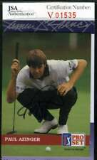 Paul Azinger 1992 Pro Set Jsa Coa Autograph Authentic Hand Signed