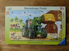 Ravensburger Tractor On The Farm Puzzle Jigsaw