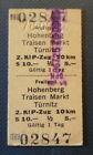 Eisenbahn Fahrkarte  1978  Freiland - Türnitz