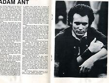 1982 Adam Ant Single Bullet Theory Concert Program Capitol Theatre Passaic NJ