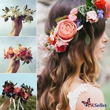 Flower Headband Crown Floral Garlands Hair bands Wedding Girl Women bridemaid