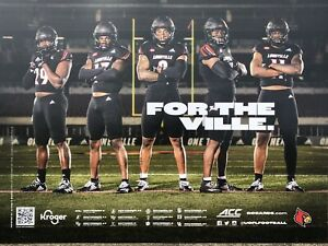 University Louisville Football Cardinals ACC Defense Poster Schedule 2021 2022