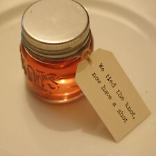 Shot Glass Wedding Favour Tags - We Tied The Knot Now Have A Shot  - Typewriter
