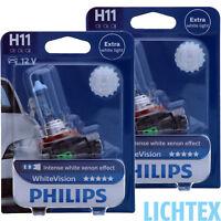 H11 PHILIPS WhiteVision Intensiver Xenon Effekt Scheinwerfer Lampe DUO Pack-Box