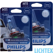 H11 PHILIPS WhiteVision Intensiver Xenon Effekt Scheinwerfer Lampe DUO Pack-Box