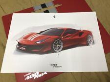 FERRARI 488 PISTA Lithograph - Design Sketch - no brochure Prospekt 95998245