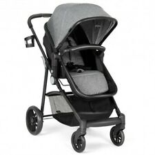 2-in-1 Foldable Pushchair Newborn Infant Baby Stroller-Gray - Color: Gray